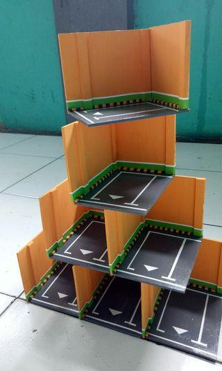 Diorama parking mini hotwheels