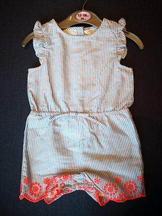 英國購買 Stright Jumpsuit (12-18 month) 全新bb直間連身褲