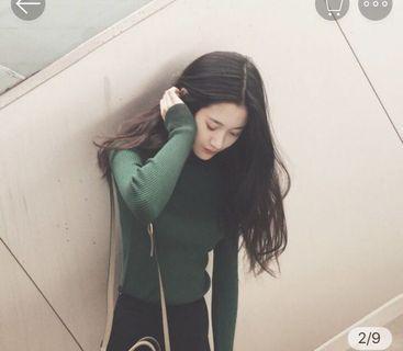 🚚 綠色 針織毛衣