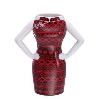 *正價6折*Yi-ming紅黑旗袍陶瓷手製水杯 原價$229