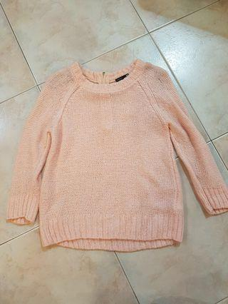 h&m ulzzang/harajuku/korean pastel pink wool/knitted sweater/pullover