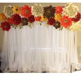 Backdrop Rental/ Custom Made Paper Flowers