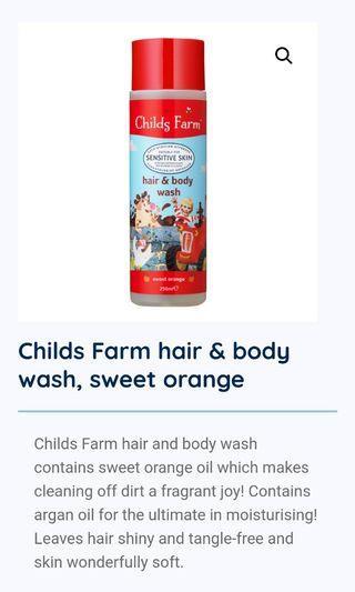 🚚 Childs Farm Hair and Body wash, sweet orange 250ml