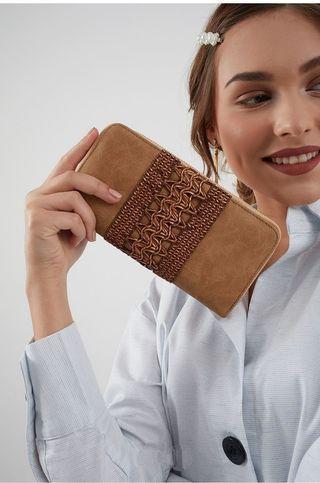 Maru Decyta Braided Detail Wallet Brown