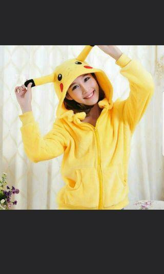 INSTOCK pikachu hoodie in L and XL