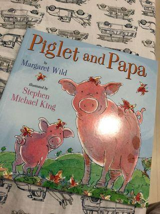Piglet and papa children's book