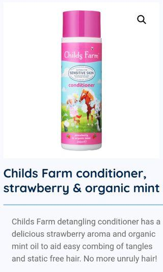 Childs Farm conditioner strawberry and organic mint 250ml