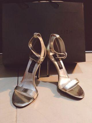 Charles & Keith Party High Heels| Champagne Gold Heels