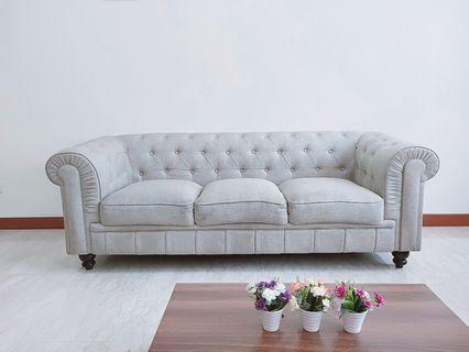 🚚 Benjamin Classical 3 seater Fabric sofa