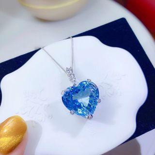 心型topaz鑽石項鍊