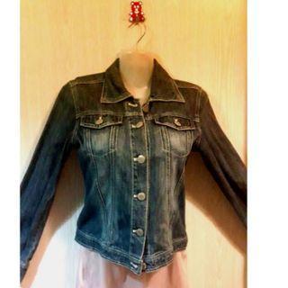 Dark Blue Denim Jacket - Size S-M