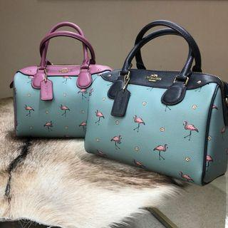 [Preorder] COACH Flamingo Boston Shoulder Bag