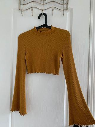M Boutique shirt sweater yellow/mustard