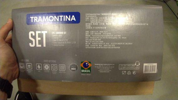巴西進口TRAMONTINA不鏽鋼鍋具五件組