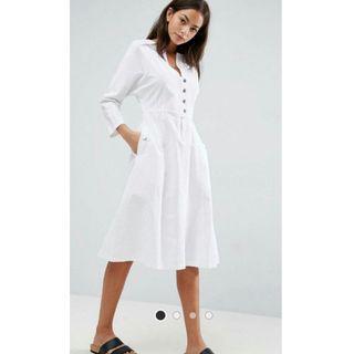 ASOS Midi Dress With Popper Detail