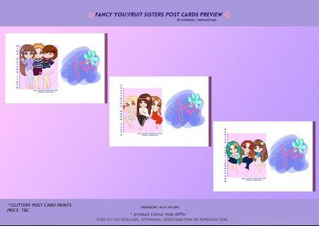 FANCY YOU|FRUIT SISTERS POST CARDS