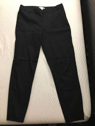 Black ankle length dress pants