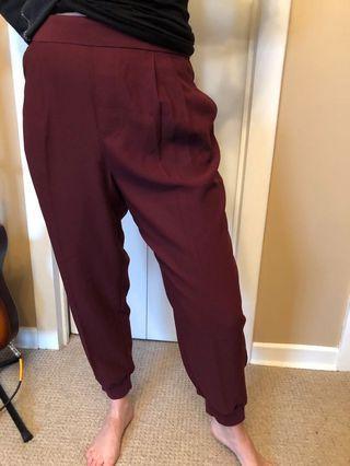Maroon Gap trousers