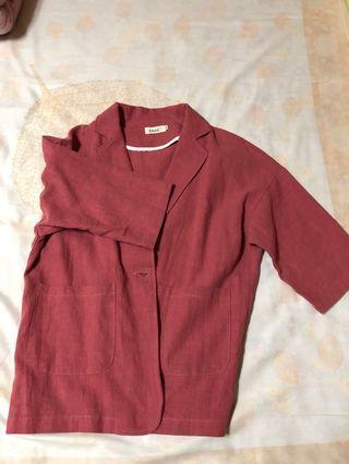 🚚 韓版 粉紅色西裝外套