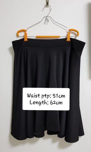 Plus Size Full Black Skirt (NEW)