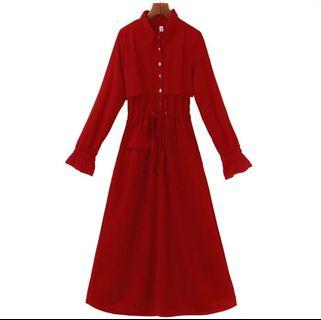 Brand new long sleeve red dress with tag