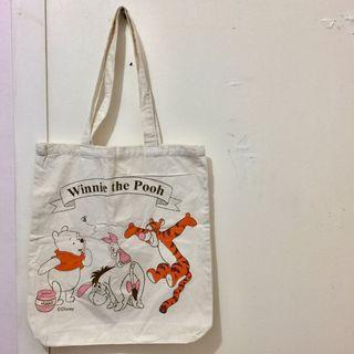 Disney,Winnie the Pooh,Canvas,Recycle,Reused,Tote,Bag,迪士尼,小熊維尼,環保袋,布袋,飯袋,便當袋