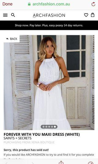 Saints & Secrets White Boho Maxi Dress #swapau