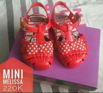 Mini melissa girls Red minnie mouse