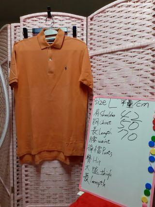 POLO BY Ralph Lauren 短袖 polo 尺碼size L 可参考在白板