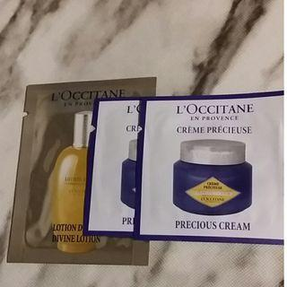L'Occitane's Divine Lotion及 Immortelle Precious Cream