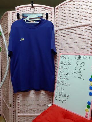 Mizuno 美津濃 短袖上衣 運動休閒 T裇 尺碼size L 可参考白板