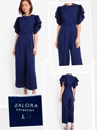 Zalora navy blue jumpsuit