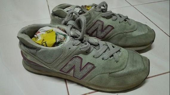 Kasut New Balance 574 Grey shoes sport