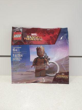 Lego 5005244 6217086 Teen Groot Marvel Super Heroes Avengers key chain ring