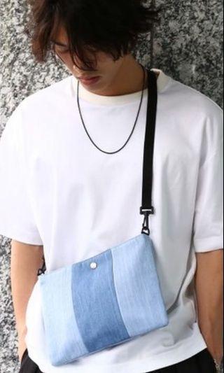 (最後降價) JUNRed 日牌 斜紋布 隨身小包 單肩包 側背包 近全新僅用過一次