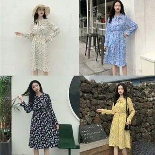Masami Summer Flower Korean Style Dress
