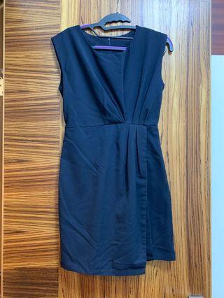 Navy blue dress 深藍色連身裙 OL