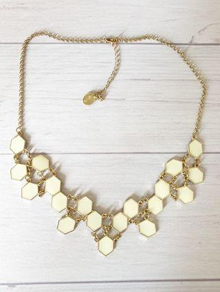 Geometric Honeycomb Statement Bib Necklace