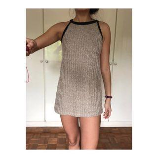 bnwot Brown tweed halter dress #endgameyourexcess