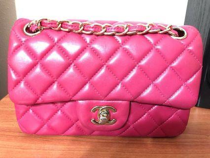 232954bee907 N/A Chanel Hot Pink Lambskin Mini Flap Bag (20cm)