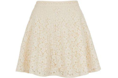 TOPSHOP Lace Skater Skirt