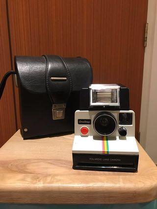Polaroid One Step Land Camera w/Flash & Case (Takes SX-70 Film)