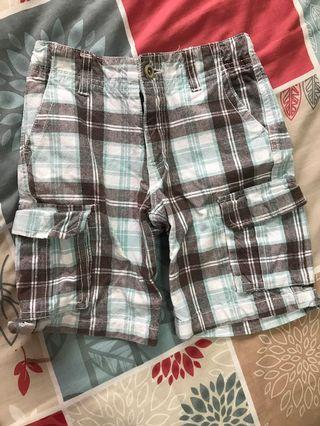 Checkered shorts 3 years old