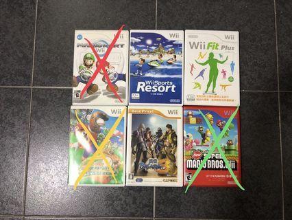 Wii Game 電視遊戲機 🎮 碟 志在賣 平售 任天堂