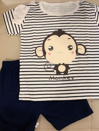 🚚 Baby Boy Set Monkey 3 to 6 month old 3m 6m