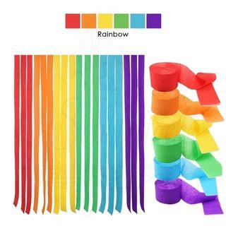 23m DIY Crepe Paper  Party Streamer Celebration Garland / Party Decor backdrop