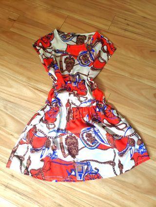 Stunning pattern dress