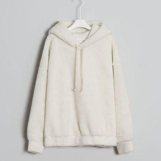 meierq 捲捲羊毛休閒連帽上衣