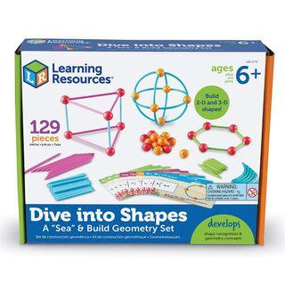 """Learning Resources Dive into Shapes! A """"Sea"""" and Build Geometry Set"""