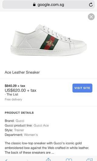 f79a8c119f9 Gucci Ace Leather Sneakers